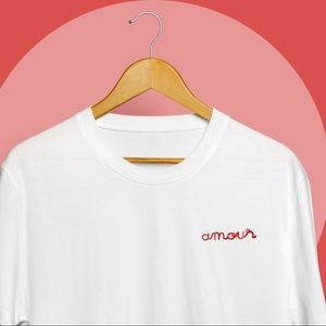 'Amour' Handmade Embroidered Tee
